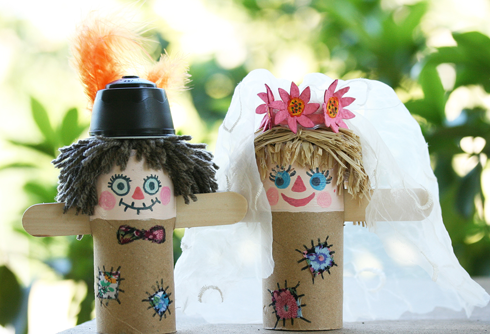 Scarecrows Weeding Bride and Groom 3